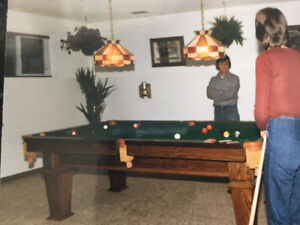 4x8' Pool Table with Snooker Pockets
