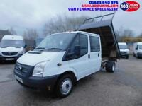 FORD TRANSIT 2.2TDCi 100PS RWD T350L DOUBLE CAB WITH SEATS A VERY CLEAN TRUCK