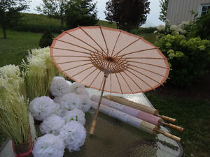 NEW 4 PAPER Parasols / UMBRELLAS - Pastel Colours $9 EACH