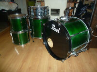 5PC custom MAPLE SHELL DRUMS lacquer british racing green