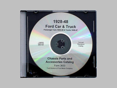 1928-48 Ford Car & 1928-47 Truck Master Parts Text & Illustrations Catalog CD Ford Truck Master Parts Catalog