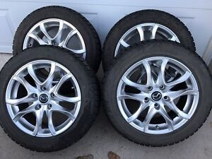Alloy 16inch Mazda Rims with Blizzak WS70 Tires