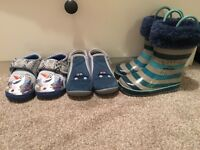 3 pairs of Toddler Size 6 footwear - all used BARGAIN