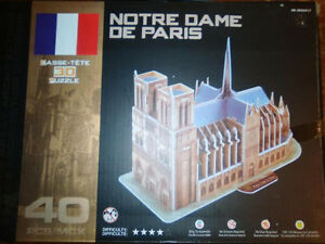 3D Puzzle - NOTRE DAME CATHEDRAL - Brand New! London Ontario image 1