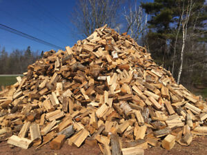 Seasoned firewood for sale- blocked and split, blocked, or 8 ft