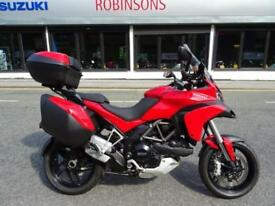 2015 DUCATI MULTISTRADA 1200S TOURING D AIR IN RED LOW MILEAGE