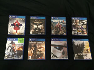A lot of PS4 games for sale and one remote