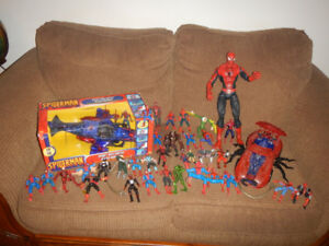 Lot de 36 Spider-Man Figurines Auto Hélico
