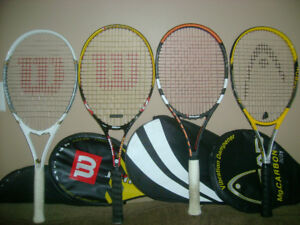 Tennis racquet with cover for sale
