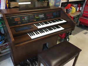 FREE..  Beautiful Lowery Organ and Bench
