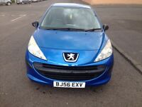 CHEAP RUNNER PEUGEOT 207 LOW MILEAGE & YEAR MOT
