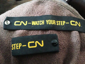 CN CNR Conductor Arm Bands, Pant Cuffs Watch Your Step Mint Cambridge Kitchener Area image 4