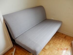 Sofa-bed in very good condition; remov. cover and mattress cov.