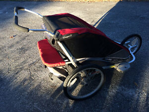 Chariot Cougar 2 double jogging stoller / bike trailer