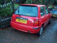 CHEAP- Nissan MICRA 1.0 -Mot 3st1 Aug 2017 -great little hatchback- now only £395- low ins.