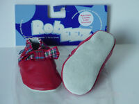 Red tartan plaid shoes for wee kilt run cheerers Robeez 0-6mo