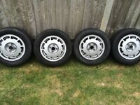Mk1 golf gti Pirelli p slots alloy wheels set good tyres