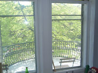 Plateau 1.5 Balcony,Sunny All included, Sherbrooke metro