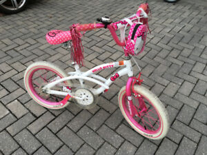"16"" Hello Kitty girls kids bike bicycle age 4-7 Excellent"