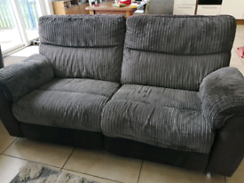 3 seater recliner sofa and 1 leather recliner