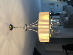 Chrome and Chrystal pendant light
