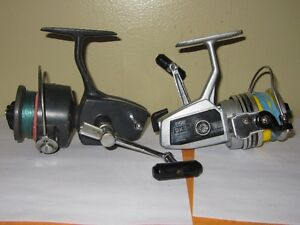 2 MOULINETS ZEBCO, RYOBI FISHING SPINNING REELS