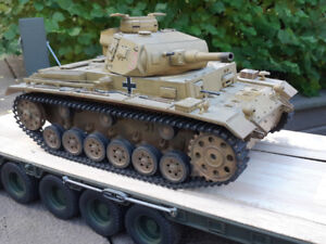 HL German Pz III Remote Control R/C Tank - Modified