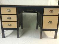 REDUCED AGAIN Vintage Teachers Distressed Style Desk