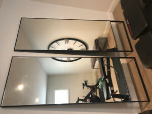 2 extra large LEANER MIRRORS - half price - paid $2000