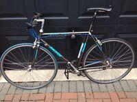 """Raleigh racer mens bike 21"""" shimano group set mavic hybrid 105"""