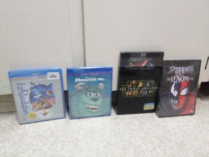 Disney Blu-ray and DVD movies never been opened