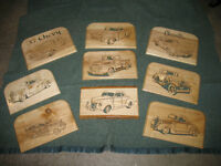 OLD CAR WALL PLAQUES
