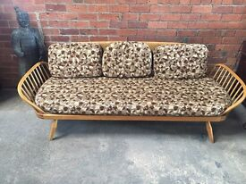 ERCOL Retro Daybed Sofa - Original Cushions - UK Delivery