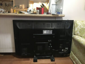 Panasonic 50 inch tv with remote and stand