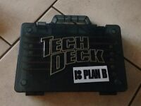 Tech deck carrying case and skateboards