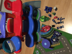 Pj Mask Headquarters and Characters with vehicles