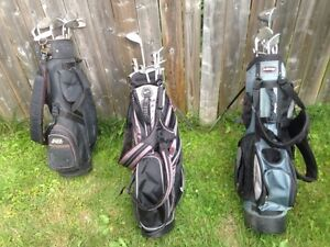 Golf clubs with bags