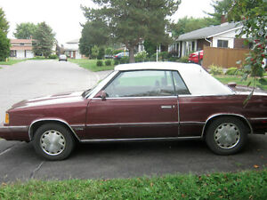 1986 Dodge 600 Convertible - best offer