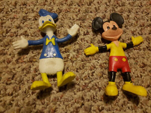 Bendable Mickey Mouse & Donald Duck Rubber Toys