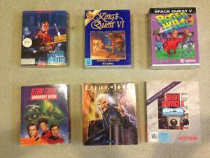 PC Big Box Games – Lands of Lore, Iceman, Star Trek, Sierra, etc