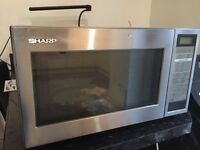 Silver Sharp 25L microwave -£35