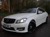 2012 12 Mercedes-Benz C220 2.1 CDI Blue F auto AMG Sport..F.S.H..HIGH SPEC!!