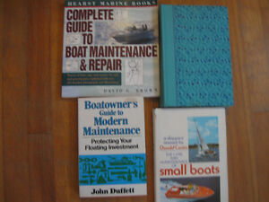 Four book about boat Maintenance, systems, building