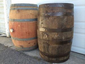 LOOK >90 Oak Wine Barrels & Bourbon Whiskey Barrels $175 to $225