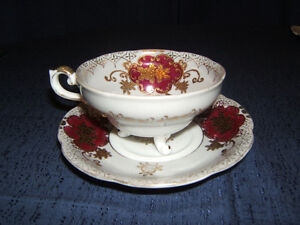 Hand Painted -Shafford Fine Bone China Cup & Saucer-Japan