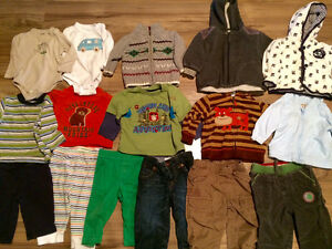 Boys 6-12 month brand name clothing - sleepers, pants, tops etc