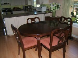 11pce GIBBARD CHERRY WOOD DINING SET MADE IN NAPANEE