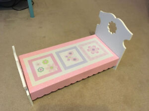 18 inch Solid Wood Doll Bed for American Girl or any other - $20
