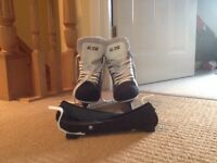 Ice hockey skates with guard