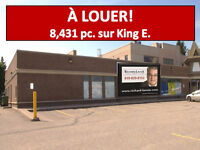 Local commercial rue principale (King)14.70$/an/pc + txs X 5 ans